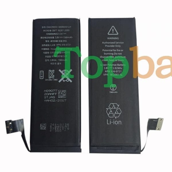 Original new battery 616-0721 for iphone 5s,iphone 5c
