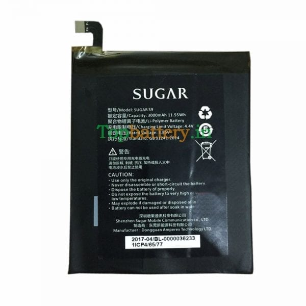 Original new battery 356477 for SUGAR S9,F9
